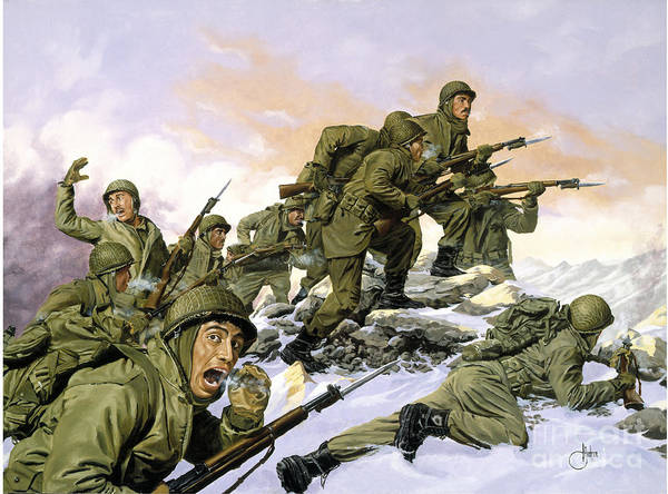 Wall Art - Painting - Korean War by Celestial Images