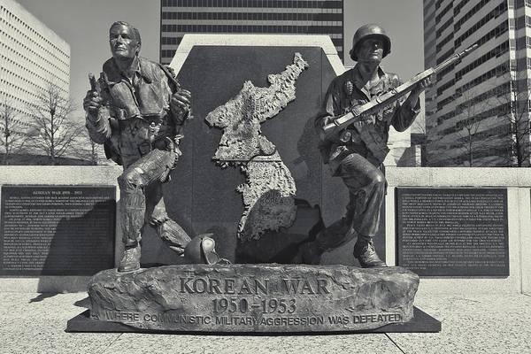 Wall Art - Photograph - Korean War Memorial Nashville by Dan Sproul