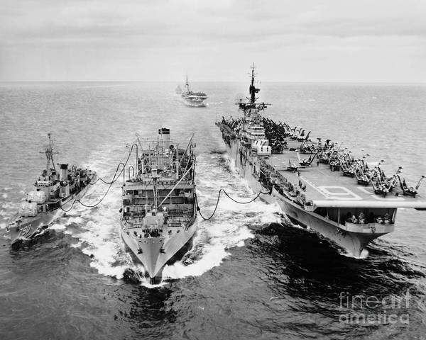 Photograph - Korean War: Ship Refueling by Granger