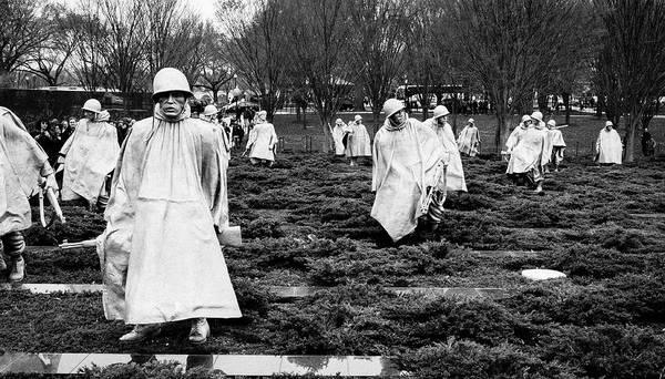Photograph - Korean War Veterans Memorial by Steven Ralser