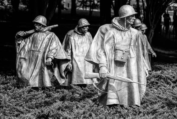 Wall Art - Photograph - Korean War Veterans Memorial Washington Dc by Joan Carroll