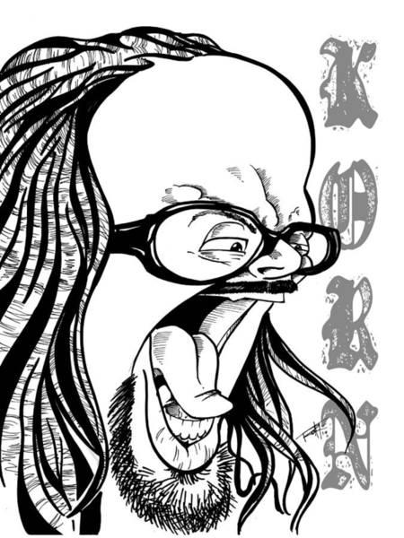 Wall Art - Drawing - Korn by Big Mike Roate