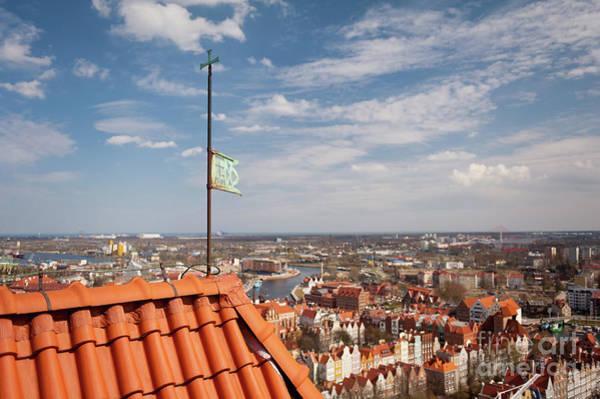 Wall Art - Photograph - Kosciol Mariacki Roof Tower Top by Arletta Cwalina