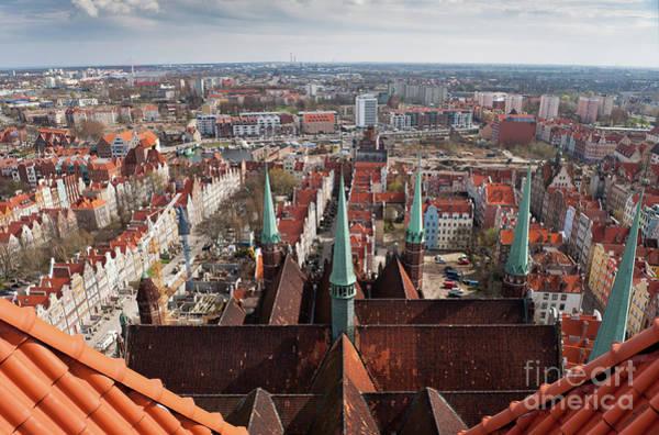 Wall Art - Photograph - Kosciol Mariacki Towers Top View by Arletta Cwalina