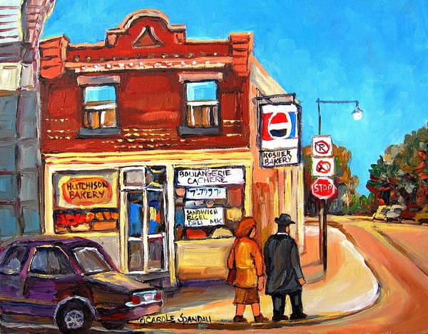 Painting - Kosher Bakery On Hutchison by Carole Spandau
