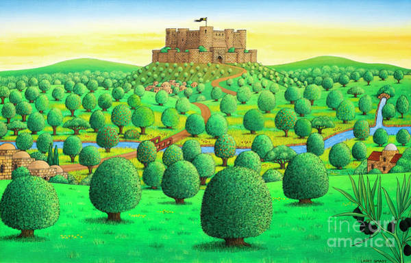 Wall Art - Painting - Krak Des Chevaliers  Syria, by Larry Smart