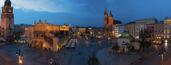 Square Tower Photograph - Krakow Poland Main Square by Steve Gadomski