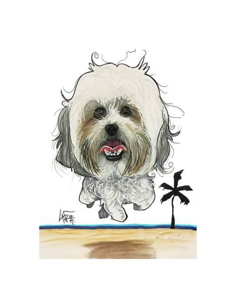 Pet Portrait Drawing - Kramer 3230 1 by John LaFree