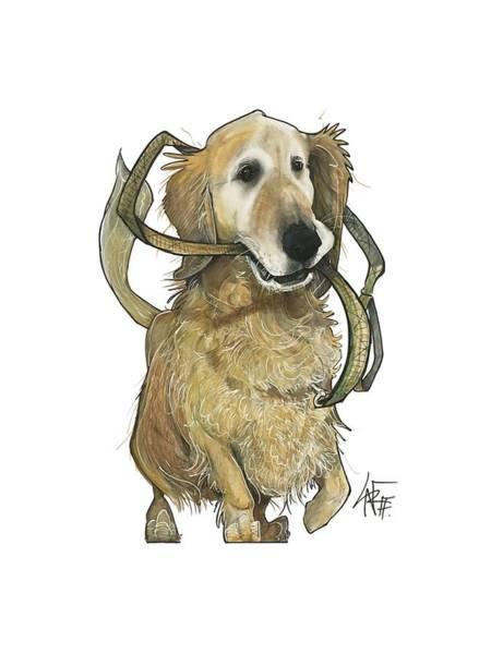 Pet Portrait Drawing - Kramer 3293 by John LaFree