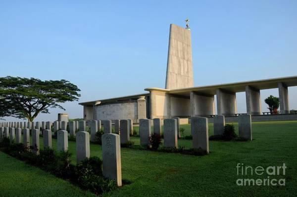 Photograph - Kranji Commonwealth War Memorial Monument And Gravestones Singapore by Imran Ahmed