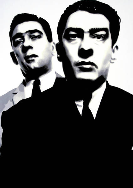 Twins Painting - Kray Twins by Luis Ludzska