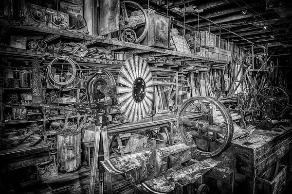 Photograph - Kregel Windmill Factory In Black And White by Susan Rissi Tregoning