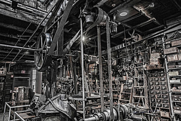 Photograph - Kregel Windmill Factory Pulleys by Edward Peterson