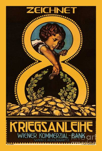 War Bonds Digital Art - Kreigsanleihe 8 Child Gold Coins by Heidi De Leeuw