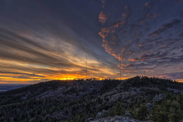 Photograph - Krell Hill Sunset by Mark Kiver