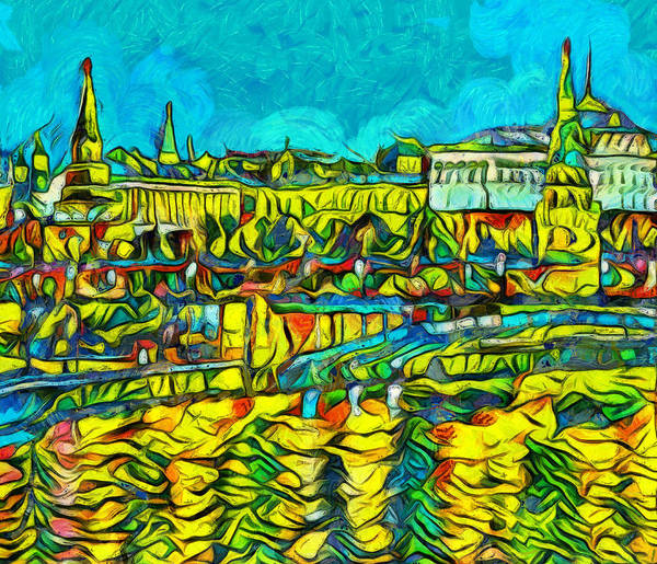 Russian River Painting - Kremlin And Russian Presidential Palace by Dan Sproul