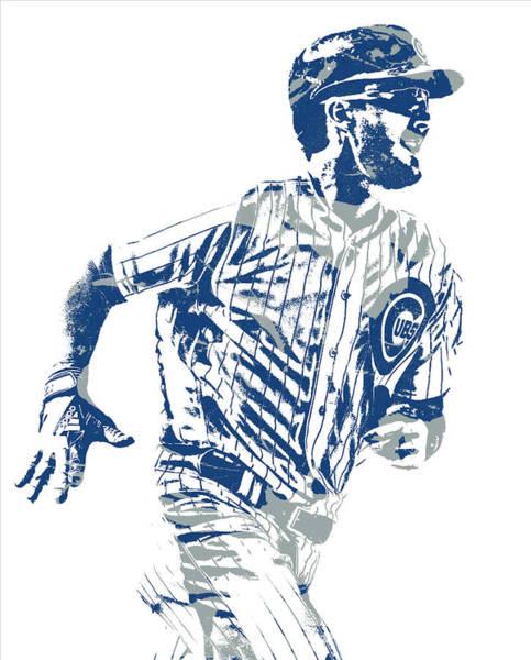 Wall Art - Mixed Media - Kris Bryant Chicago Cubs Pixel Art 30 by Joe Hamilton