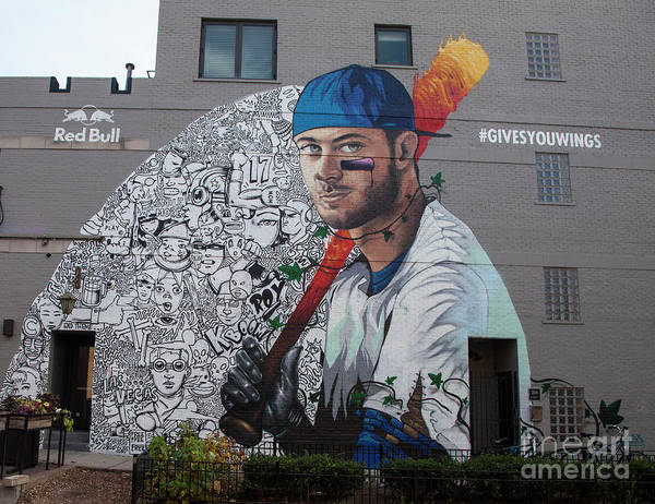 Wall Art - Photograph - Kris Bryant Mural by Timothy Johnson