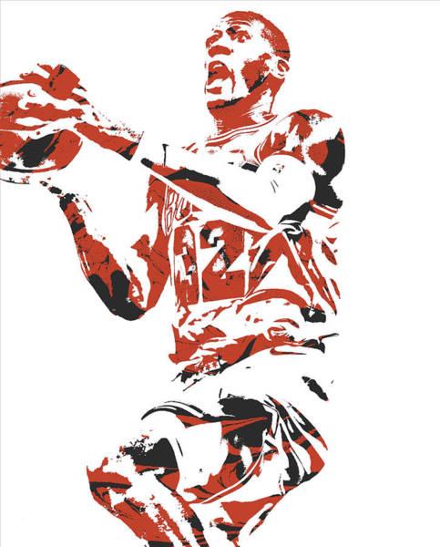 Wall Art - Mixed Media - Kris Dunn Chicago Bulls Pixel Art 6 by Joe Hamilton