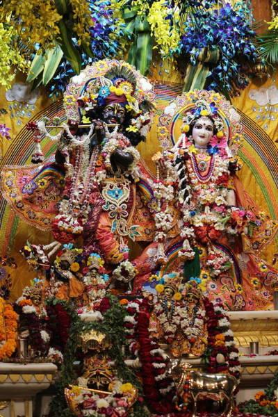 Wall Art - Photograph - Krishna And Radha Darshan, Iskon Temple, Vrindavan by Jennifer Mazzucco