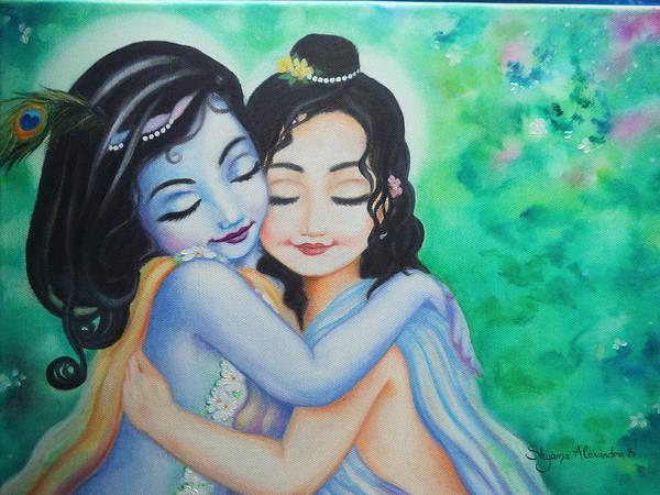 Wall Art - Painting - Krishna Balarama by Alexandra Bilbija