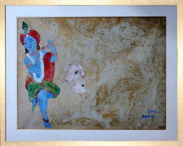 Krishna Art Print by Rooma Mehra