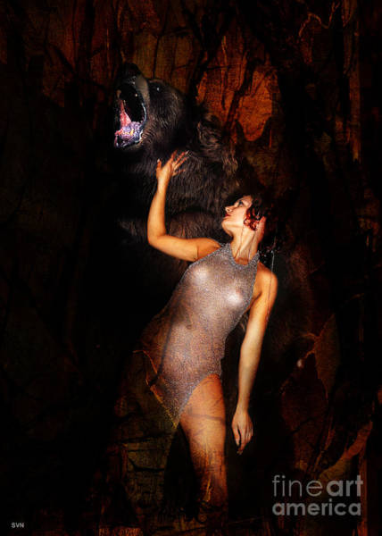 Wall Art - Photograph - Kristine And The Bear by The Hybryds