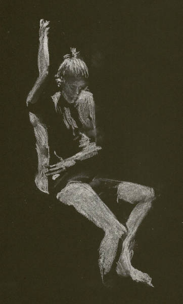 Drawing - Kroki 2014 10 04_12 Figure Drawing White Chalk by Marica Ohlsson