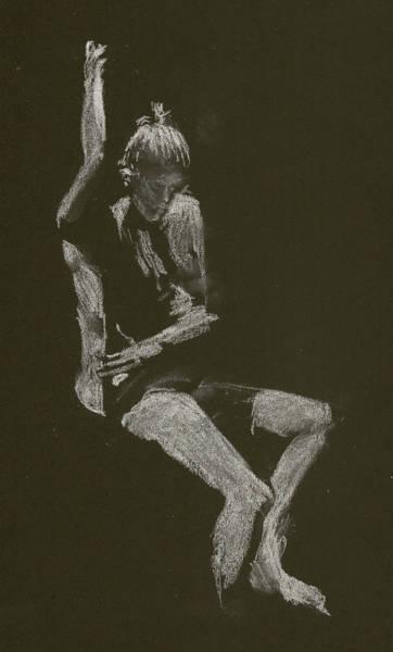 Kroki 2014 10 04_12 Figure Drawing White Chalk Art Print