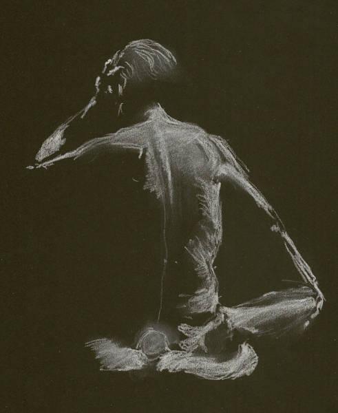 Kroki 2015 01 10_14 Figure Drawing White Chalk Art Print