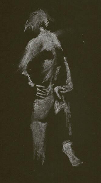 Kroki 2015 01 10_7 Figure Drawing White Chalk Art Print