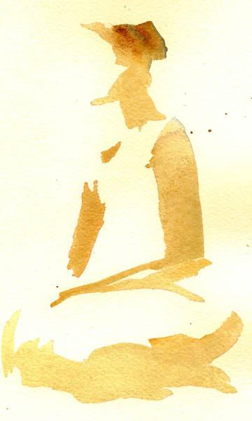 Painting - Kroki 2015 03 28_29 Maalarhelg 3 Akvarell Watercolor Figure Drawing by Marica Ohlsson