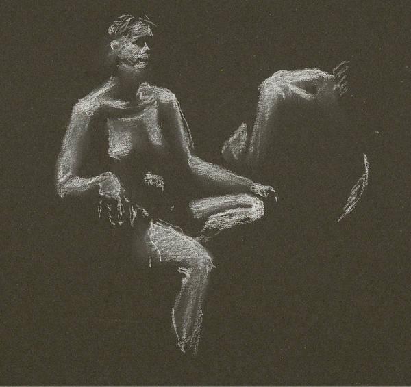 Kroki 2015 04 25 _3 Figure Drawing White Chalk Art Print