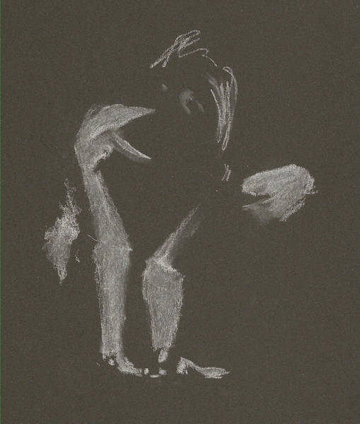 Drawing - Kroki 2015 10 03_10 Figure Drawing White Chalk by Marica Ohlsson