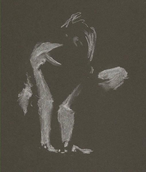 Kroki 2015 10 03_10 Figure Drawing White Chalk Art Print
