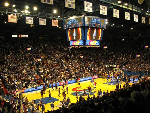 Photograph - Ku Allen Fieldhouse by Keith Stokes