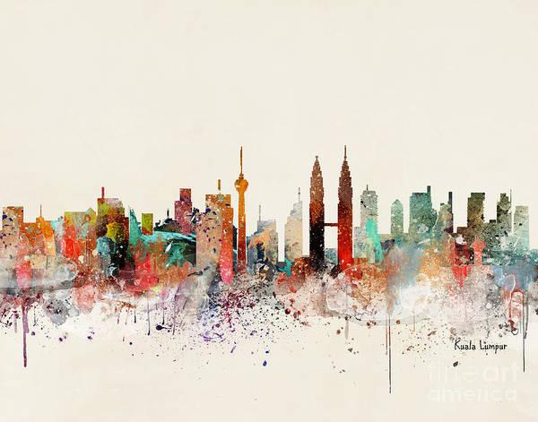 Wall Art - Painting - Kuala Lumpur Skyline by Bri Buckley