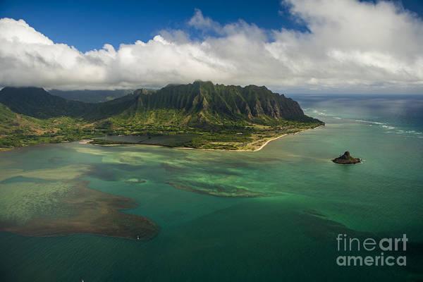 Mokolii Photograph - Kualoa Aerial by John De Mello