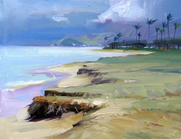 Wall Art - Painting - Kualoa Light by Richard Robinson