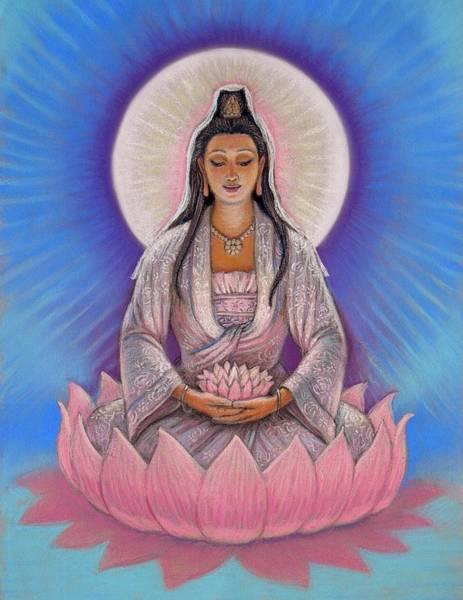 Buddhism Painting - Kuan Yin by Sue Halstenberg