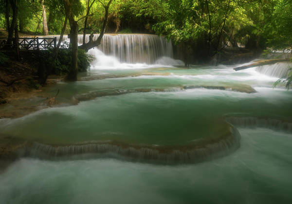 Photograph - Kuangsi Falls Laos by Matt Shiffler
