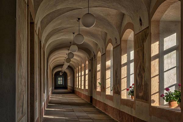 Photograph - Kuks Hospital Corridor - Czechia by Stuart Litoff