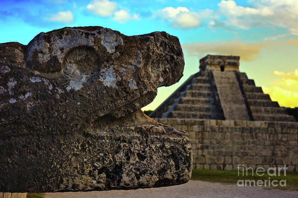 Photograph - Kukulkan Pyramid At Chichen Itza In The Yucatan Of Mexico by Sam Antonio Photography