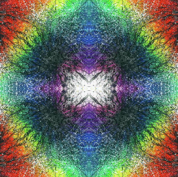 Divine Love Mixed Media - Kundalini Awakening #1551 by Rainbow Artist Orlando L