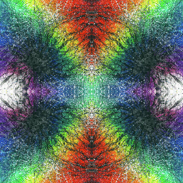 Divine Love Mixed Media - Kundalini Awakening #1553 by Rainbow Artist Orlando L