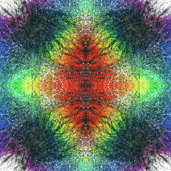 Divine Love Mixed Media - Kundalini Awakening #1554 by Rainbow Artist Orlando L