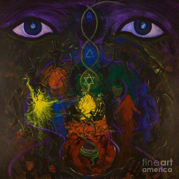 Primal Painting - Kundalini Rising by Colleen Koziara
