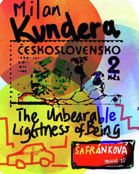 Drawing - Kundera Poster 2  by Paul Sutcliffe