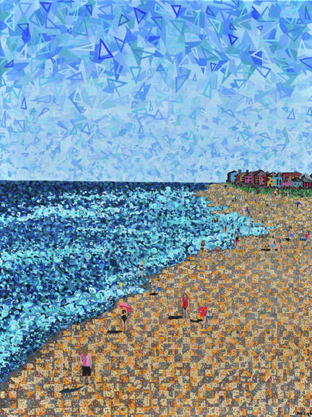 North Carolina Painting - Kure Beach - A View From The Pier by Micah Mullen