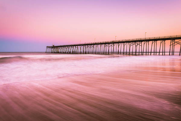 Photograph - Kure Beach Fishing Pier At Sunset by Ranjay Mitra